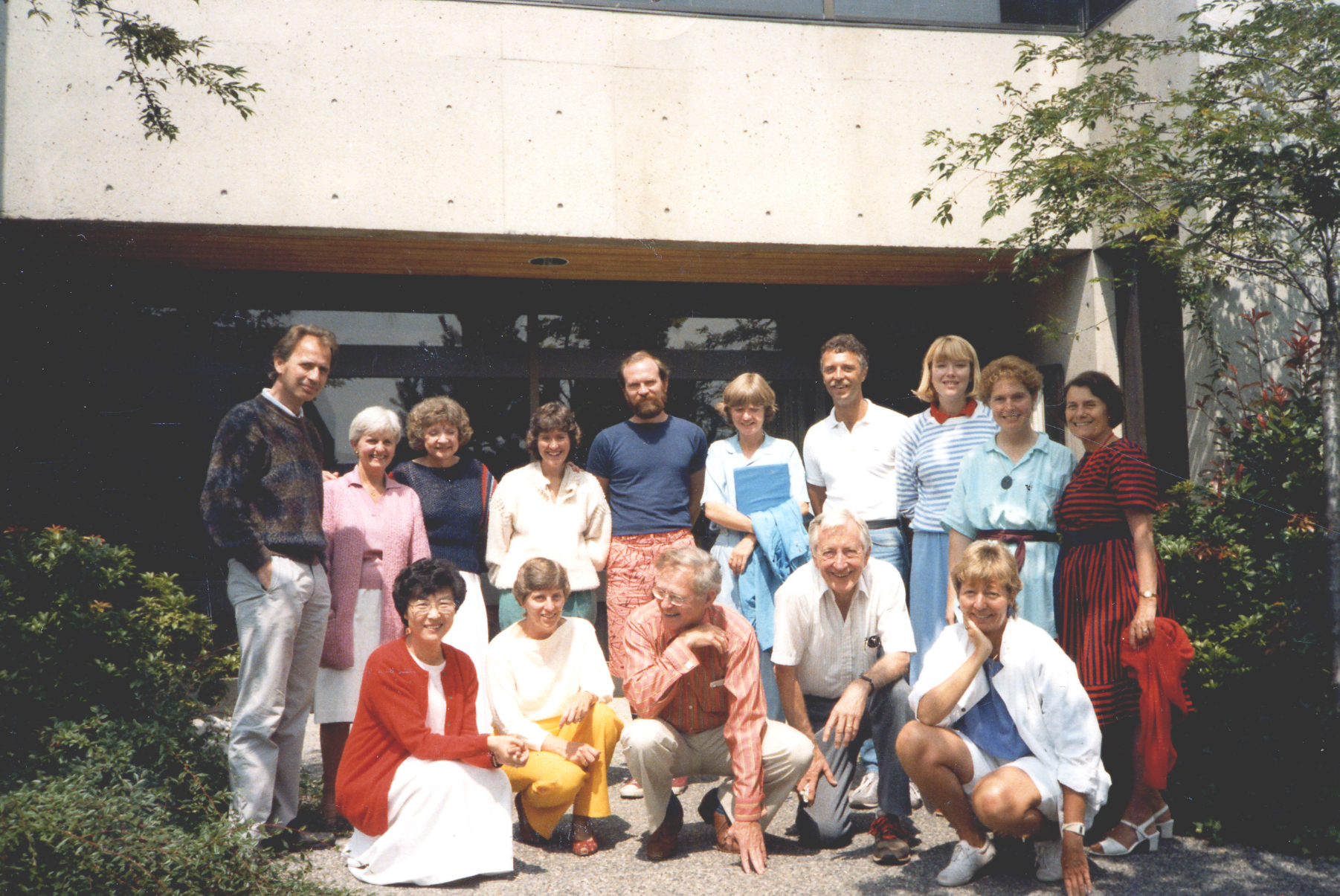 Guided Autobiography Workshop and Seminar – July 1983 Jim Birren second from the right kneeling Betty Birren on the right standing
