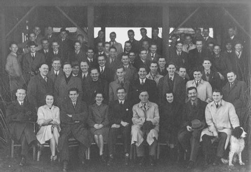 The 'Old Sweats', the first UBC Law Class, 1945. UBC Archives
